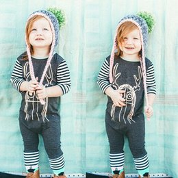 Wholesale Wholesale Jumpers For Babies - cherry jumpers for girls Cartoon baby girl spring clothes Christmas Long Sleeve Toddler Romper Autumn Stripe Kids Onesie Girl Clothes 7300