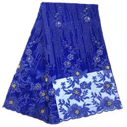 Wholesale 3d flower lace fabric - Wholesale Nigerian French Lace Fabric Appliques 3D Flower Wedding Lace Flowers Embroidered Wedding Dress Lace fabrics