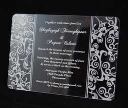 "Wholesale Scroll Wedding Invitation Cards - Acrylic scroll Wedding invitations,customized scroll wedding invites,Acrylic wedding invitations,acrylic invitations card(6.5""x4.5""xT1 12"")"