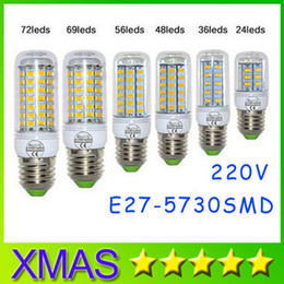 Wholesale Smd Store - New store opening -SMD5730 E27 E14 7W 12W 15W 18W 20W 25W LED Corn Bulb 24 36 48 56 69 72 LEDs lighting