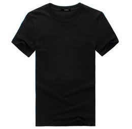 Wholesale Blank Black T Shirt Wholesale - In the summer new cotton blank round collar Wholesale T-shirt short sleeves Men\'s printed t-shirts with short sleeves Half sleeve shirt