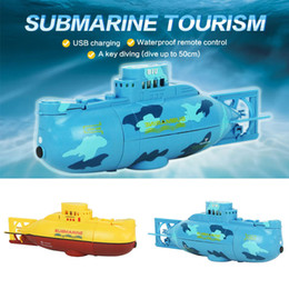 Wholesale Rc Mini Submarine - Wholesale- Free Shipping Free Shipping 6CH Speed Radio Remote Control Mini RC Submarine Kids Children Toy