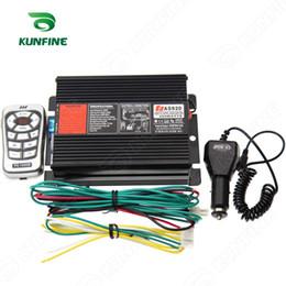 Sirene de alarme de carro sem fio on-line-200 W sem fio Sirene sirene de Alerta de carro Eletrônico 10 tons com interruptores de luz remota sem alto-falante Transporte da gota KF-S1020
