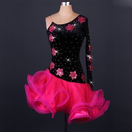Wholesale Girls Dance Costume Dress Sequin - Latin Dance Dress Women Girls For Salecha Cha Rumba Samba Ballroom Dancing Dancewear Fitness Clothes Lady Kids Dance Costume