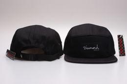 Wholesale Snapbacks Hats Diamonds - New fashion 20 styles Diamond cap 5 Panel Snapback Hats classic men & women's designer snapbacks caps cheap diamond floral hat gorras planas