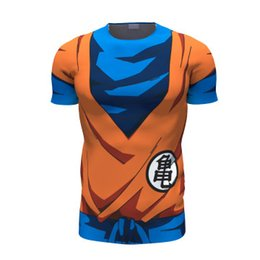 Wholesale Black Anime Characters - Classic Anime Dragon Ball Z Son Goku t shirt DBZ Characters t shirts 3D Tees Women Men Gym Fitness t-shirt tops