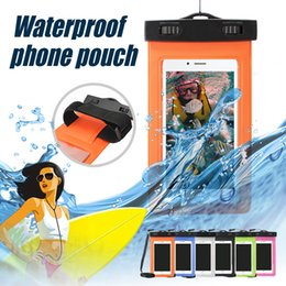 Wholesale Cell Phone Float - Floating Waterproof Pouch Cell Phone Dry Bag Case for Outdoor Water Activities For iPhone 8 Samsung Note 8 Cellphones with OPP Bag