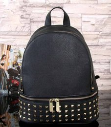 Wholesale Pink Leather Laptop Bag - hot new Luxury women bag School Bags pu leather Fashion Famous designers backpack women travel bag backpacks laptop bag