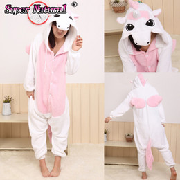 Wholesale Pajamas For Women Cheap - dult unicorn pajamas HKSNG One Piece Blue Pink Purple Adult Unicorn Pajamas Cheap Kiguruma Footed Animal Onesie Cosplay Costume For Women...