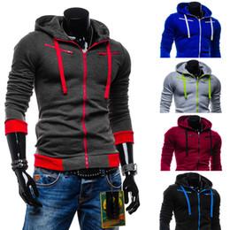 Wholesale Brown Child Cardigan - Wholesale- 2016 new autumn and winter men's fashion casual fleece cardigan range of children men's hooded sweater coat Slim Sportswear