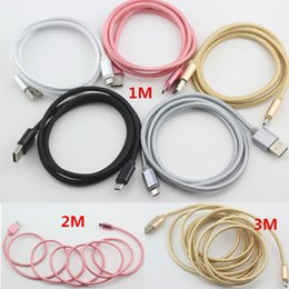 Wholesale C Metal - 2.1A Unbroken Metal Braid Type C USB For S8 S8Plus Micro USB Cable Charger Lead For Samsung S7 S6 s6 edge S5 & Android 1M 3FT 2M6FT 3M 10FT
