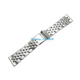 Pulidores adaptadores online-JAWODER correa de reloj 22 mm 24 mm pulsera de correa de reloj de acero inoxidable pulido completo accesorios de pulsera adaptador de plata para Breitling SUPEROCEAN