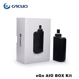 Wholesale Electronic Cigarettes Joyetech - Authentic Joyetech Ego Aio Box Kit e cigarette with 2100mah Vape Mod 2ml Vaporizer All-In-One Kit Electronic Cigarette fit BF SS316-0.6ohm