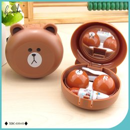 Wholesale Contact Lenses Case Mirror - New Design Cute Little Bear Contact Lens Case with Mirror Contact Lenses Box for Man and Women
