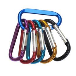 Alluminio D forma fibbia moschettone Survial catena chiave gancio moschettone clip campeggio attrezzature EDC paracord fibbie SC018 da