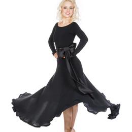 Wholesale Pink Dress Women Xxl - 4 Colors Ballroom Dance Dress Modern Waltz Tango Standard Dance Dress with belt Size S-XXL Custom A06
