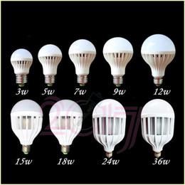 Ampoules de globe B22 / E27 LED 3w / 5w / 7w / 9w / 12w / 15w / 18w / 24w / 36w Ampoules LED 85-265V Ampoule LED blanche / blanc chaud ? partir de fabricateur