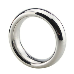 Wholesale steel ball penis sound - Stainless Steel Cock Rings Metal Cockring Penis Ring for Men Ball Stretcher Sex Toys Scrotal Scrotum Bondage Male Ring