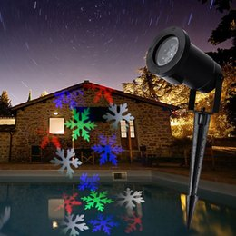 Wholesale Led Christmas Snowflakes - Christmas Snowflake Laser Lights Snow LED Landscape Light Outdoor Holiday Garden Decoration Projector Moving Pattern Spotlight AC 110-240V