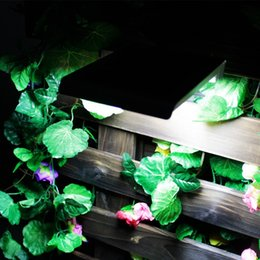 Wholesale 48 Led Light Panel - Brightest 48 LED Solar Power Light with Motion Sensor IP65 Wall Garden Outdoor Security Lamp With 5.5V 5W Solar Panel lamp