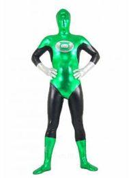 Costumi di lycra body di leotard di Lanterna verde di spedizione estera, all-inclusive dress up puntelli di Halloween costume da