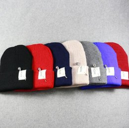 Wholesale Dong Man - New Post Woven Lable Of Men And Women Cold Hat Money Lady Knitting Hat Qiu Dong The Day Han2 Ban3 Warm Pointed Cap