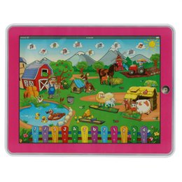 Wholesale Touch Screens For Computers - Children's Funny Farm Tablet Toy Y-Pad Touch Screen Pad Learning Machine Computer Laptop Educational Toy for Baby Kids