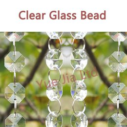 Wholesale Clear Glass Crystal Garland - 6 FT Crystal Clear Glass Bead Garland Chandelier Hanging wedding decoration
