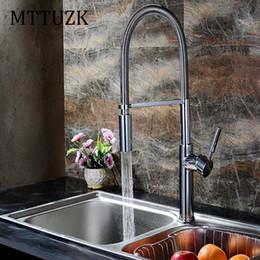 Wholesale Basin Mixer Faucet Accessories - MTTUZK top quality Polished chrome Spring spray Kitchen mixer faucet Basin faucet luxury kitchen sink tap accessories 1pcs lot