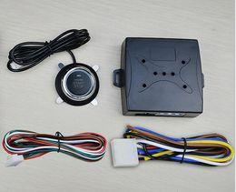 fold fold frete grátis Desconto 10 PCS DHL rápido Car Motor Push Start Botão RFID Bloqueio de Ignição de Arranque Keyless Entry Start Stop Sistemas de Alarme Imobilizador de Condução de Segurança