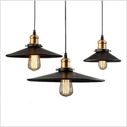 Wholesale Country Living Decorations - New Loft RH Industrial Warehouse Pendant Lights American Country Lamps Vintage Lighting for Restaurant Bedroom Home Decoration Black