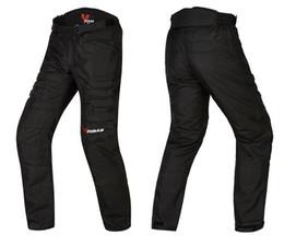 Wholesale Duhan Moto - Wholesale-New 2017 style NEW motorcycle pants men pantalones moto pants motocross black color with knee guards DUHAN M L XL XXL