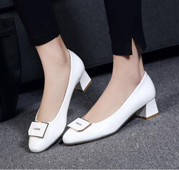 Wholesale Patent Lighter - The spring and autumn period and the leisure lighter leather women's shoes thick with square head work with large size and comfortable