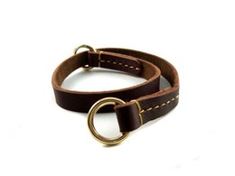 Wholesale Collars Quick Release - Cow Leather Basic Collars For Dogs Breakaway Quick Release Soft Solid Leather Collars 2CMX70CM