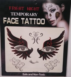 Wholesale Tattooed Stockings - Hot sale fright night temporary smile face tattoo Body art chain transfer tattoos temporary stickers in stock 9 styles 3000pcs