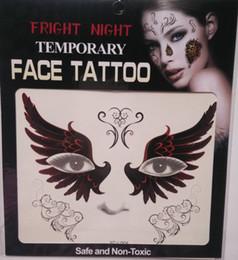 Canada Vente chaude effroi nuit temporaire sourire visage tatouage Body art chaîne transfert tattoos temporaire autocollants en stock 9 styles 3000 pcs Offre