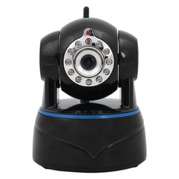Wholesale Hd Ip Zoom - 4*digital zoom HD IP Camera Wireless P2P Plug and Play IR Night Vision Pan Tilt Two Way Audio Micro SD Slot