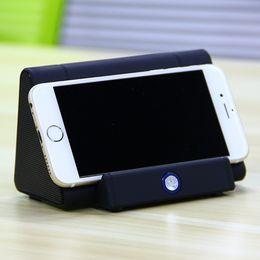 Wholesale Iphone Floor Speaker - Wireless Induction Speaker Magic Audio Mini Portable Sensing Speakers With Phone Stand for iPhone Xiaomi Samsung Phone