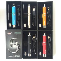 Wholesale E Cigarette 1pcs - 1pcs 100% Original Yocan Evolve Plus Kit 1100mAh Wax Pen Wax Vaporizer Quartz Dual Coil of Evolve Vaporizer Pen E-cigarette Kits