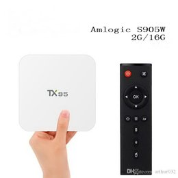 Wholesale Quad Core 5ghz - TX95 Amlogic S905W Android 7.1 TV BOX 2GB 16GB Quad-Core 64bit 2.4 5Ghz WiFi BT 4.1 H.265 Full HD 4K Streaming Media Player