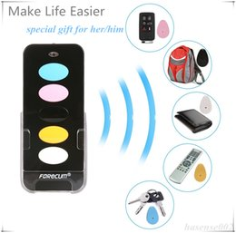 Wholesale Key Finder Remote Control Locator - Wireless Remote Control Smart Key Finders With 5 Receivers Electronic Locator Keychains Easily Find Lost Keys Wallet TV Remote No.1 gift