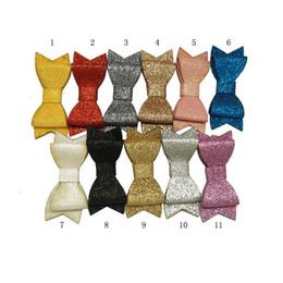 garfo clip Desconto 3 polegadas 11 cores Glitter cabelo arcos bebê meninas empilhados cabelo acessórios com garfo único clipe