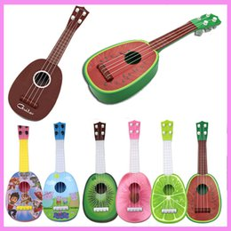 Wholesale Music Instrument Pendant - 3pcs lot Kids Guitar Toys Music Instrument Educational Toys Children Birthday Gift 4 Scales Baby Guitar Toy Cultivating Interest