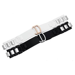 Wholesale 18mm Rose Gold Watch Band - 20mm (18mm buckle) Men Women Black White Silicone Rubber Watch Band Silver Rose Gold Folding Deployment Clasp for 21 must
