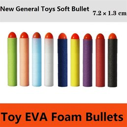 Peças de espuma on-line-Wholesale - direct selling electric toy gun soft toys bullet general parts new point soft EVA foam toys bullets Sports Toys 4141-3