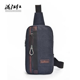 Wholesale Hipster Small - Fantasy sky fashion canvas cross body youth men's chest bag vogue hipster boy knapsacks classic casual messenger bag small flaps