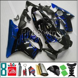 Wholesale Honda F4i Blue Flame Fairings - Dark blue flames motorcycle cowl for HONDA CBR600F4i 2001-2003 F4i 01 02 03 ABS Plastic Fairing