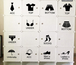 Wholesale Shoes Wall Sticker - Removable black shoes clothes classification stickers Clothing store wardrobe clothes shoes sign free shipping HY1177