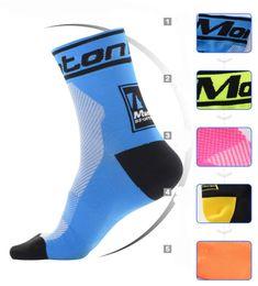 Wholesale Pink Knee High Socks - Wholesale-Monton Unisex Breathable Lycra Team Socks High Elasticity Outdoor Sports Wearproof Bike Socks Deodorization
