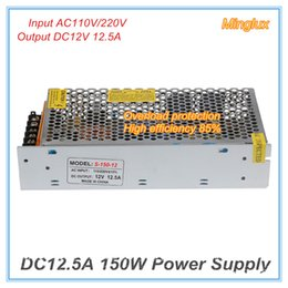 Wholesale Switched Power Supply - 12V 150W Switching Power Supply DC12V 12.5A Driver Transformer Single Output AC110V 220V Input High Efficiency 85%